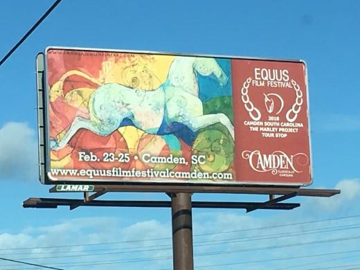 Camden billboard with artwork done by Tanner Jensen.