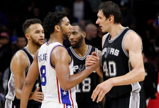 Boban shakes hands with Okafor.