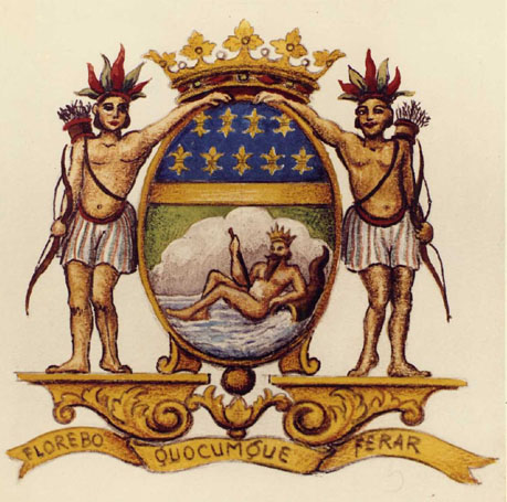 Arms of the French East India Company.