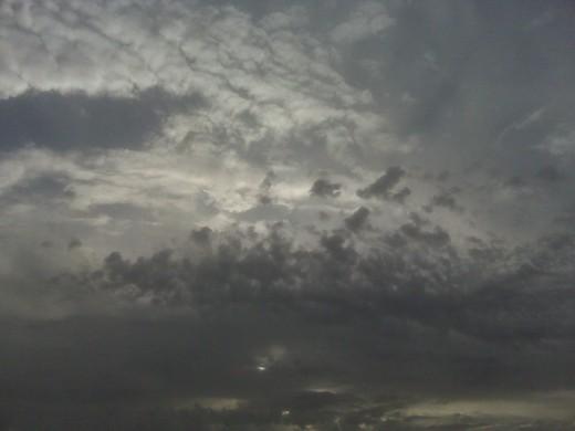 A Dark Sunny Cloudy Sky