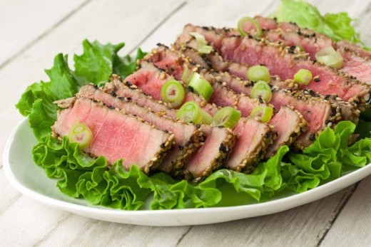 Tuna steak can be expensive, but everyone ought to treat themselves every once in a while.