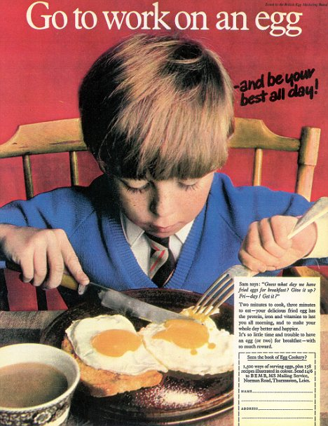 Egg Marketing Board Advertisement From the 1960s