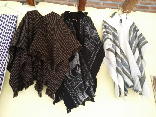 Saraguro ponchos made with sheep wool are a great choice for the region's cold weather.