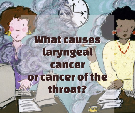 Smoking can cause larynx cancer.