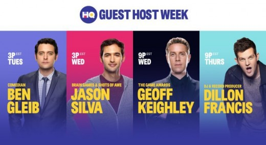 HQ Trivia has had a variety of special guest hosts.