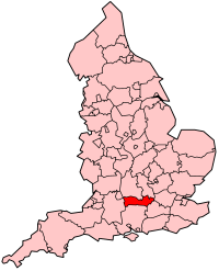 Map location of Berkshire, England