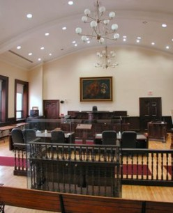 Historic courtroom still in use in Brockville, Ontario