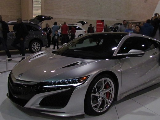 The 2017 Acura NSX was one of the first cars I encountered at the auto show. This model starts at $156,000. This was one of the most expensive vehicles at the show.