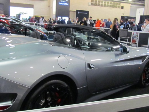 A gray convertible Maserati, was also displayed within a roped off section that did not allow visitors of the Auto Show to touch it.