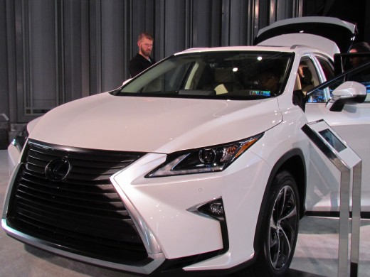 A 2018 White Lexus, was stunning in appearance. The front grill of this vehicle is uniquely designed, giving the car almost a space aged look.
