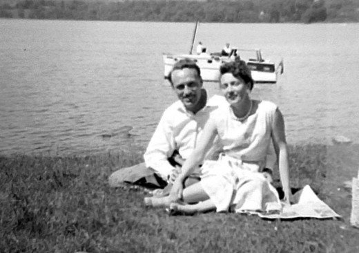 Mum and dad when they were courting in the mid-1950s