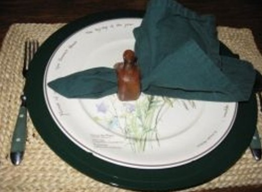 Photo: My Country Diary of an Edwardian Lady china with hunter green charger.