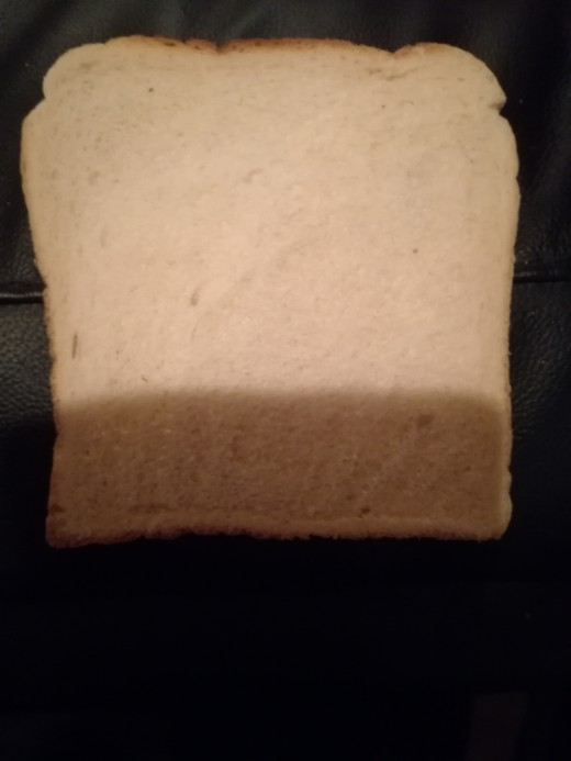 Plain white bread perfect for a poultice