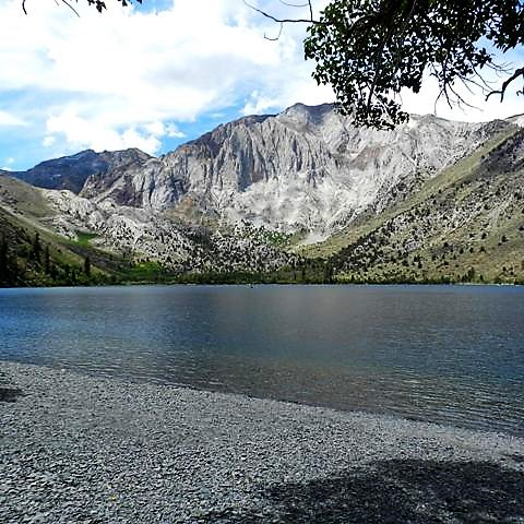 Convict Lake and Laurel Mountain in California