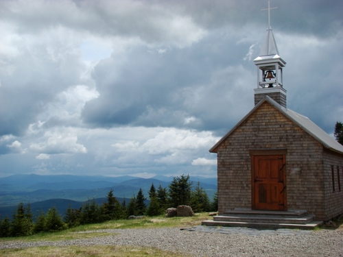 This small church is in Notre Dame de Bois. Can you imagine such a small church? Population must have been small then.