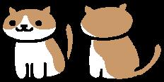 The in-game sprite for Cocoa in Neko Atsume
