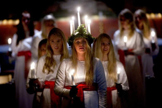 Sweden and Norway st. Lucia day celebrations