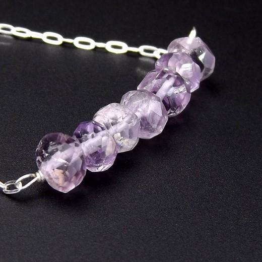 Delicate Amethyst Gemstone Necklace by Eluna Jewelry Designs