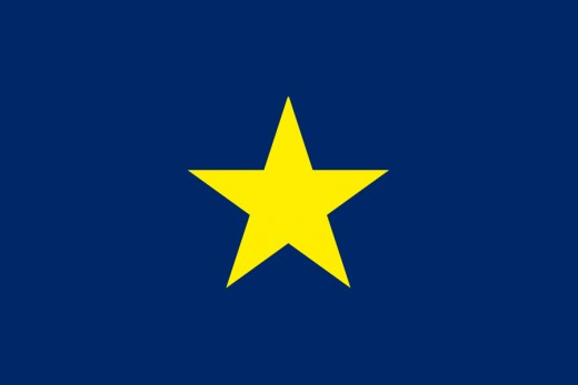 Flag of the Republic of Texas.