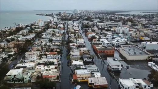 Drone video of horrific hurricane Maria's aftermath in San Juan, Puerto Rico
