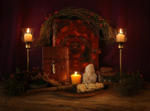 An altar is a great place to present offerings for the Celtic gods and goddesses.