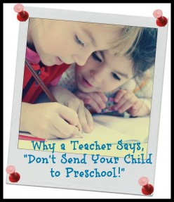 Why You Should Not Send Your Child to Preschool: A Teacher Explains