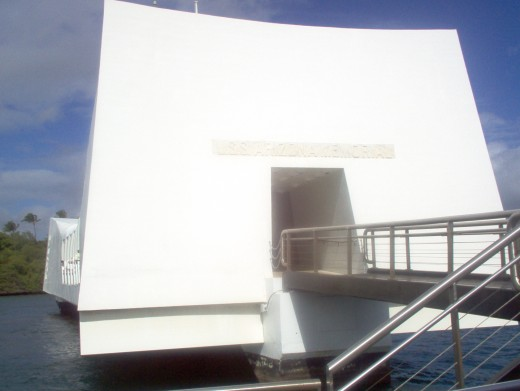 Pearl Harbor floating memorial.