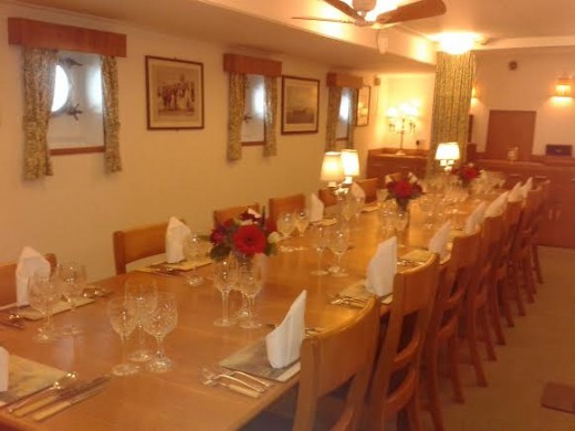 The Officers' Dining Room on the Royal Yacht Britannia