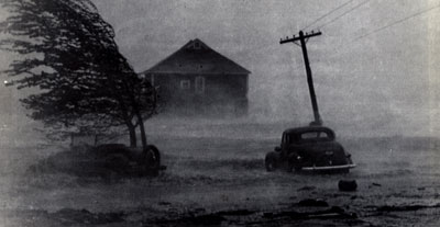 The 1938 Long Island Hurricane as it rapidly came up the Northeast
