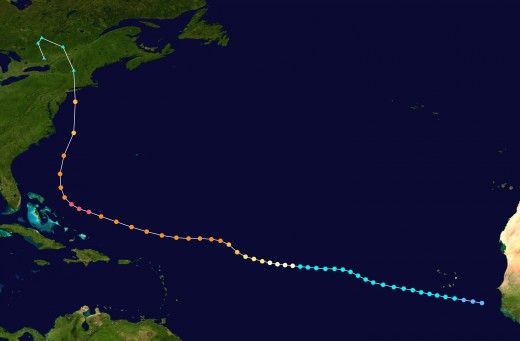 The 1938 Long Island Hurricane Track