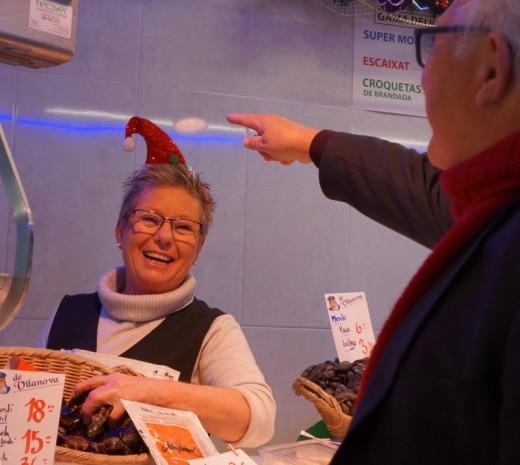 Fish Vendor a Few Steps From Erik Vokel Gran Via