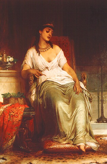 Dicksee's Cleopatra, oil on canvas