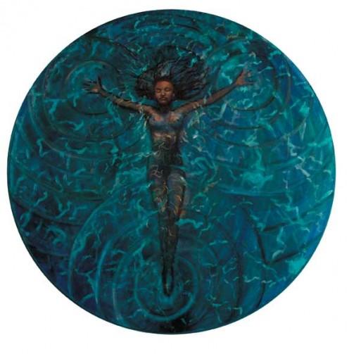 'Floating Spirit', oil on canvas by John Busuttil Leaver