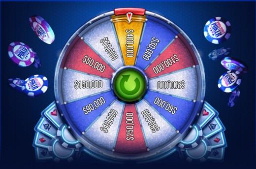 Spinning the Mega Bonus Wheel.