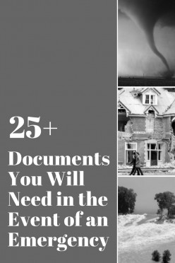 Documents You Will Need in the Event of an Emergency