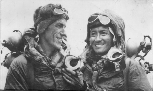 Sir Edmund Hillary & Tenzing Norgay, the MEN who scaled Mt Everest, the highest peak of the world