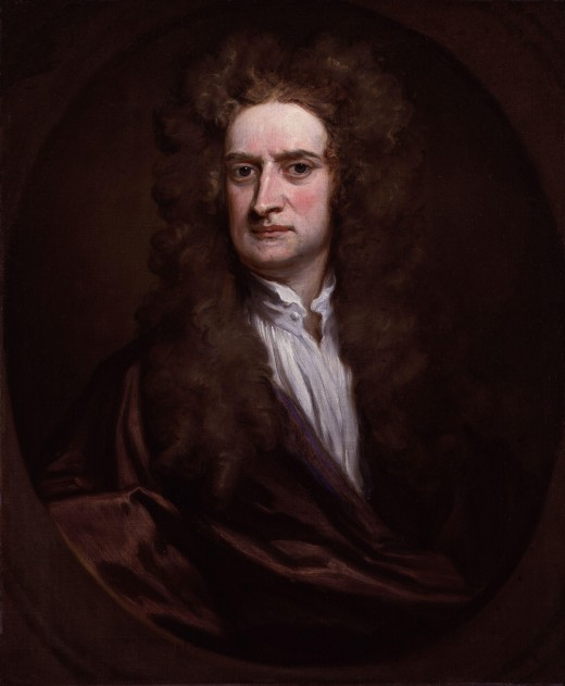 Sir Isaac Newton, the great MAN of science  who discovered the Law of Universal Gravitation