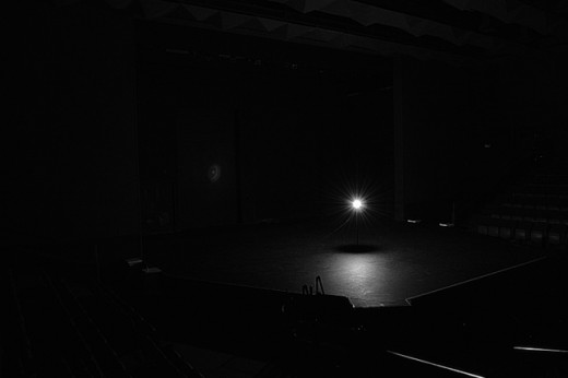 Stage illuminated by a ghost light