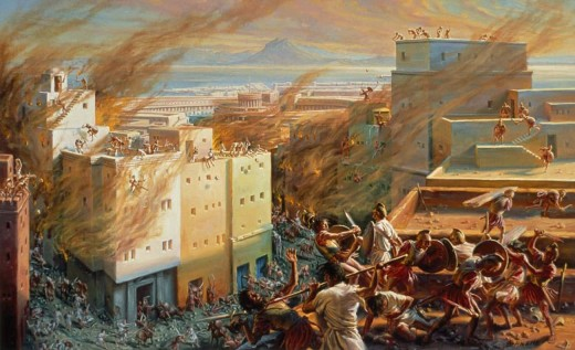 From Historycollection.co.  The Romans and Carthaginians fought three wars for control of the Mediterranean Sea.  Tired of their continual threat to their power, Rome destroyed the capital of Carthage and seized power in the region.