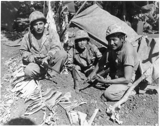 courtesy of the United States Army.  Comanche   Code Talkers served were Native Americans who fought for the United States during World War Two.  Wronged Ethnic groups still choose to fight despite their historical animosity.