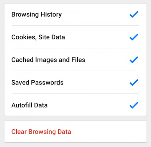 How to clear the history on the Google Chrome.