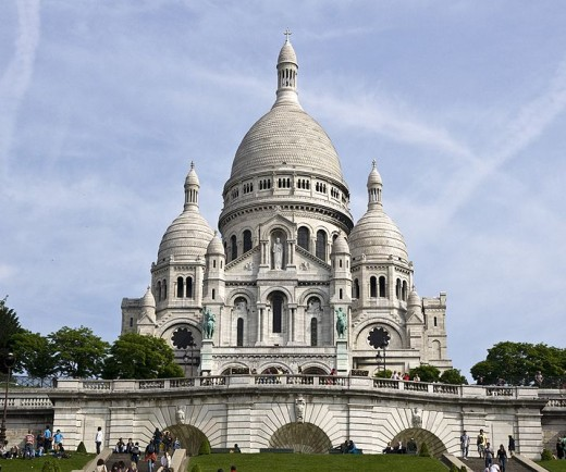 Basilique du Sacre Coeur, Montmartre, Paris Lots of steps to climb but there is a great panorama of Paris from the terrace.