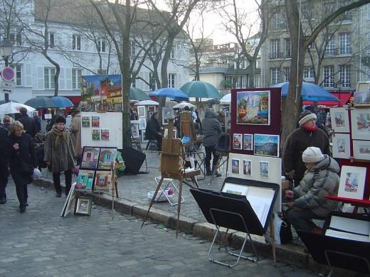 The Artists in Place du Tetre, Paris