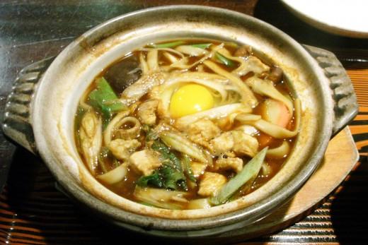 A bowl of Miso Nikomi Udon