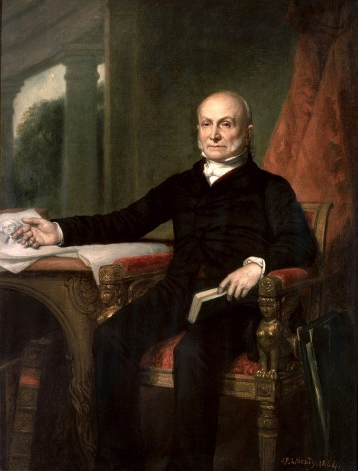 Portrait of John Quincy Adams by George Peter Alexander Healy.