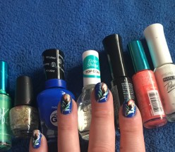 DIY peacock nail art with simple art techniques