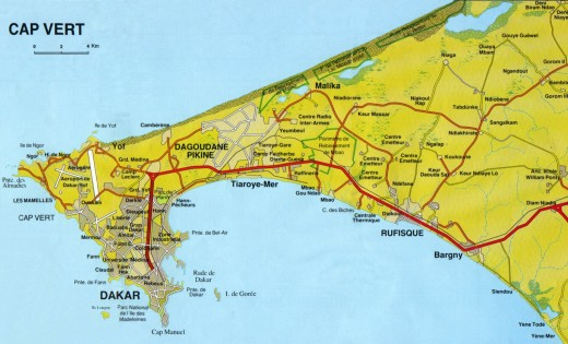 Dakar street plan