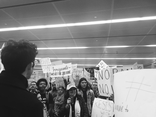 the protests that had taken place in early 2017, took place to protect those who seek asylum