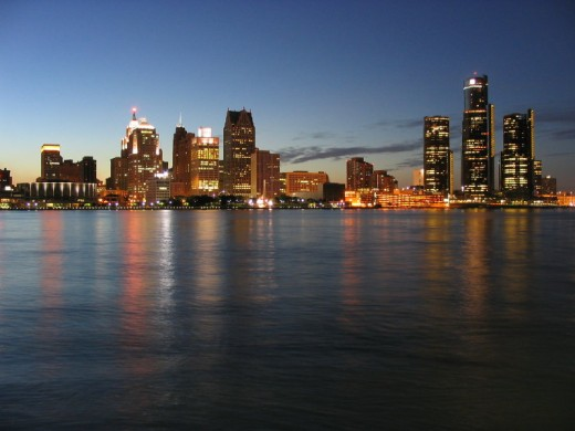 Detroit Skyline From the River