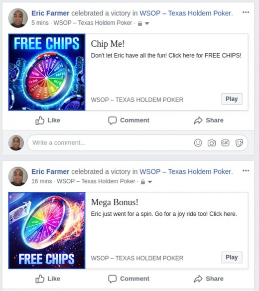 What the free chip posts look like.